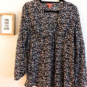 Joe Fresh size medium floral long sleeve blouse